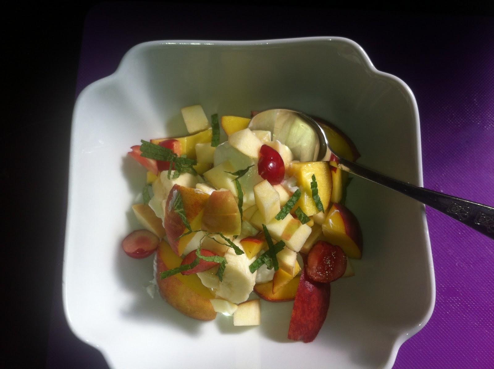 frugt med protein